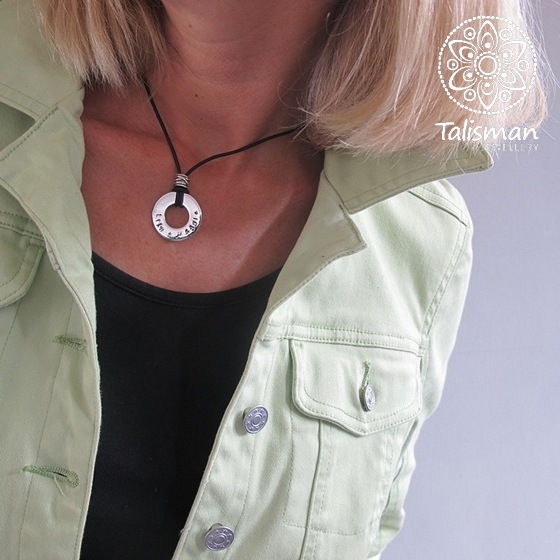 Heavy Circle Pendant Necklace