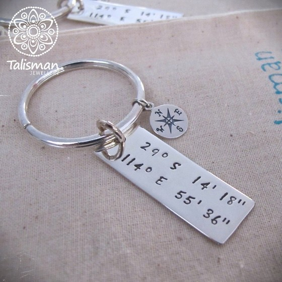 Coordinates of the Heart Keyring